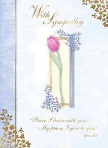 With Sympathy - front of card