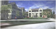 Saint Joseph Hall Renderings - Building from East - Groundbreaking March 6, 2015