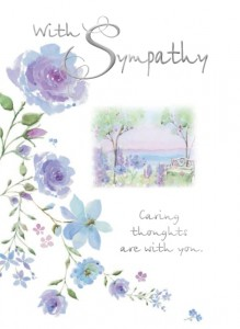 With Sympathy - Front of card - League of Saint Anthony Memorial Mass Card